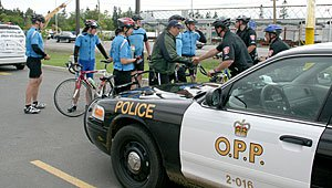 Operation PPAD (Peacekeepers Pedaling for Aboriginal People with Diabetes)  May 22, 2008