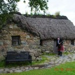 Dave Mackintosh at Crofters Cottage at Culloden battleground