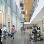 Artist's rendering of new headquarters lobby