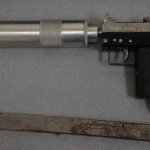 Handgun located with silencer, CFSEU investigation, Sept. 30, 2016