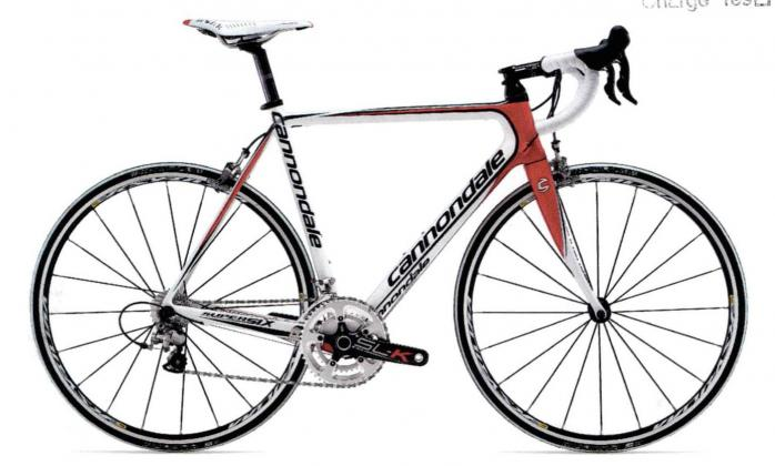 CANNONDALE Road Bike white in colour, red/black decals,…