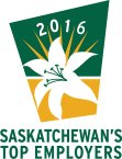 Chosen as one of Saskatchewan's Top Employers for 2016