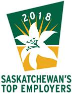 Chosen as one of Saskatchewan's Top Employers for 2018